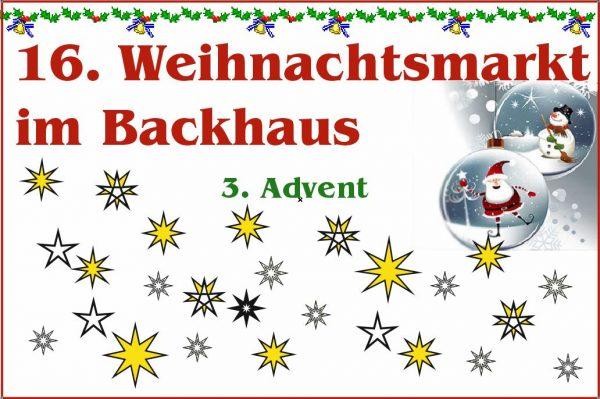 16. Weihnachtsbacktag am Backhaus